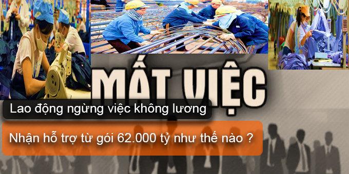(Tiếng Việt) Lao động ngừng việc không lương nhận hỗ trợ từ gói 62000 tỷ như thế nào?