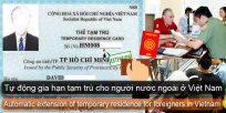 Automatic extension of temporary residence for foreigners in Vietnam
