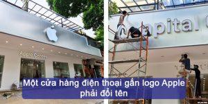 (Tiếng Việt) Một cửa hàng điện thoại gắn logo Apple phải đổi tên
