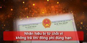 (Tiếng Việt) Nhãn hiệu bị từ chối vì không trả lời / đóng phí đúng hạn?