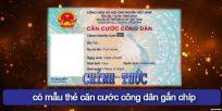 (Tiếng Việt) Chính thức có mẫu thẻ căn cước công dân gắn chíp cho người dân!
