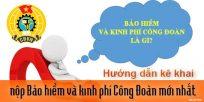 (Tiếng Việt) Hướng dẫn kê khai, nộp bảo hiểm và kinh phí công đoàn mới nhất