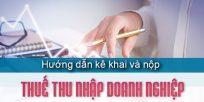 (Tiếng Việt) Hướng dẫn thủ tục kê khai, nộp thuế thu nhập doanh nghiệp mới nhất