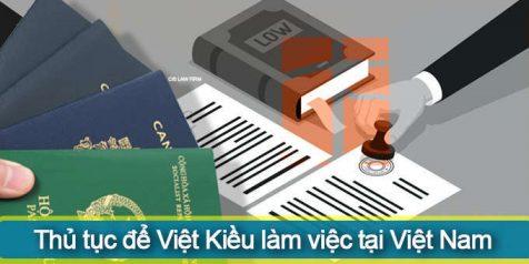 (Tiếng Việt) Thủ tục để Việt Kiều làm việc (lao động) tại Việt Nam