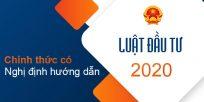 (Tiếng Việt) Chính thức có nghị định hướng dẫn luật đầu tư 2020