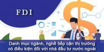 (Tiếng Việt) Danh mục ngành, nghề tiếp cận thị trường có điều kiện đối với nhà đầu tư nước ngoài