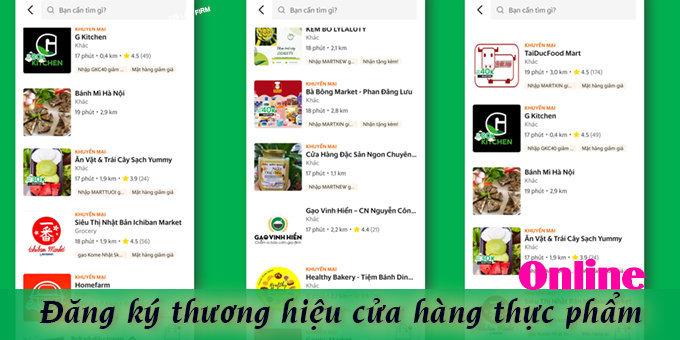 dang ky nhan hieu cua hang thuc pham online