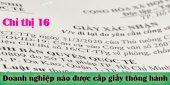 (Tiếng Việt) Doanh nghiệp nào được cấp giấy thông hành theo chỉ thị 16?