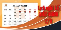 (Tiếng Việt) Thay đổi lịch nghỉ Quốc Khánh 2/9 từ năm 2021