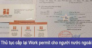 (Tiếng Việt) Thủ tục cấp lại Work permit cho Người nước ngoài