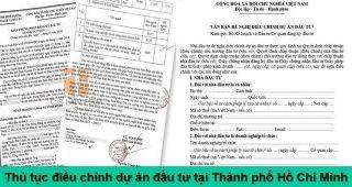 (Tiếng Việt) Thủ tục điều chỉnh dự án đầu tư tại Thành phố Hồ Chí Minh