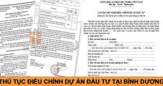 (Tiếng Việt) Thủ tục điều chỉnh dự án đầu tư tại Bình Dương