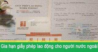 (Tiếng Việt) Gia hạn Giấy phép lao động cho Người nước ngoài