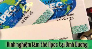 (Tiếng Việt) Kinh nghiệm xin cấp thẻ Apec ở Bình Dương