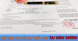 (Tiếng Việt) Thủ tục xin cấp lại thẻ Apec tại Bình Dương