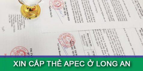 (Tiếng Việt) Hướng dẫn xin cấp thẻ Apec ở Long An