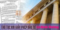 (Tiếng Việt) Thủ tục xin giấy phép đầu tư tại Bình Dương