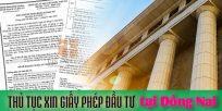 (Tiếng Việt) Thủ tục xin giấy phép đầu tư tại Đồng Nai