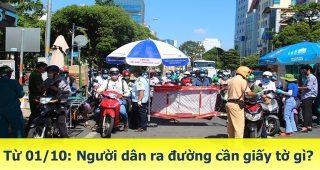 (Tiếng Việt) TP.HCM áp dụng chỉ thị 18 từ 01/10/2021 – người dân ra đường cần chuẩn bị giấy tờ gì?