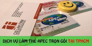 Dịch vụ làm thẻ Apec trọn gói tại TP.HCM