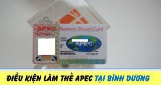 (Tiếng Việt) Điều kiện làm thẻ Apec tại Bình Dương