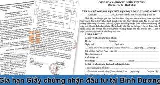 (Tiếng Việt) Gia hạn giấy chứng nhận đầu tư tại Bình Dương