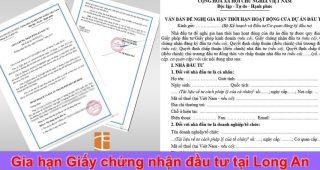 (Tiếng Việt) Gia hạn giấy chứng nhận đầu tư tại Long An
