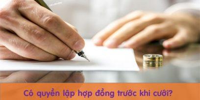 (Tiếng Việt) Lập hợp đồng trước khi cưới? Bạn có biết