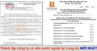 (Tiếng Việt) Thành lập công ty có vốn nước ngoài tại Long An mới nhất